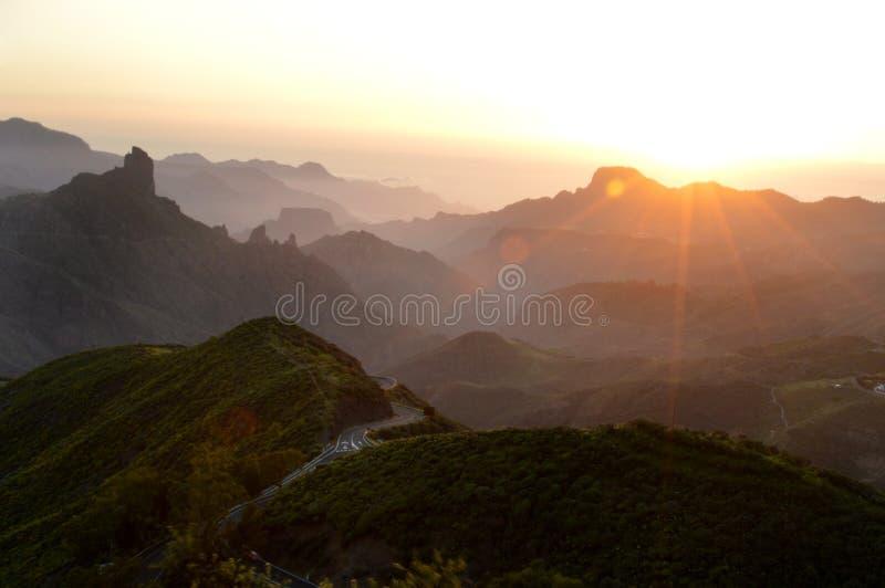 Bentaiga sunset stock image