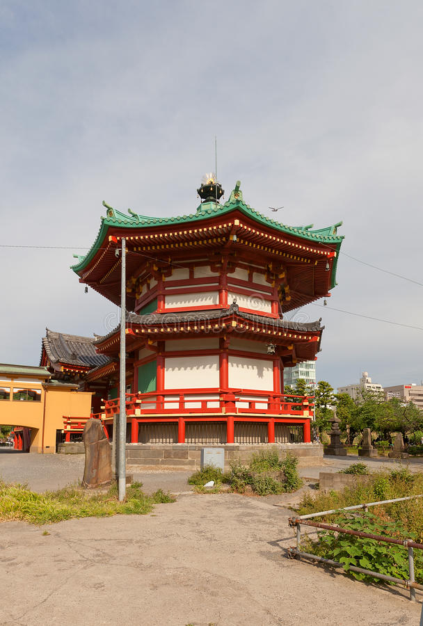 Bentendo temple (XVII c.) in Ueno park of Tokyo, Japan royalty free stock photos