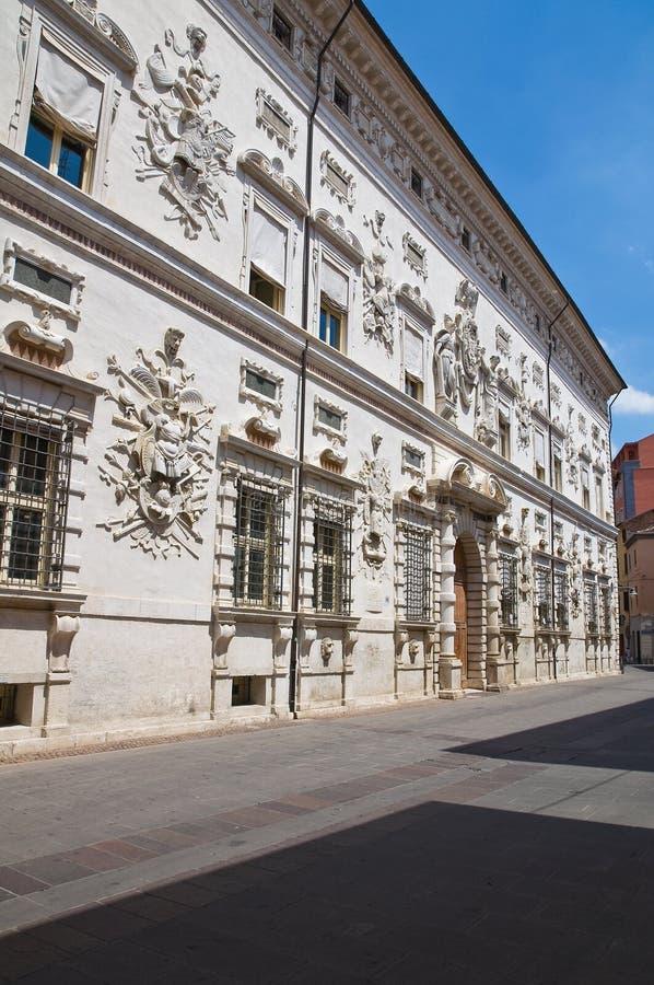 Bentivoglio slott. Ferrara. Emilia-Romagna. Italien. arkivfoto