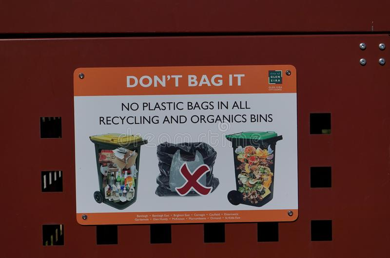 No Plastic Bag sign stock image