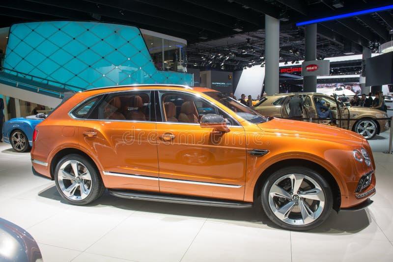Bentley Bentayga - anteprima mondiale immagini stock libere da diritti