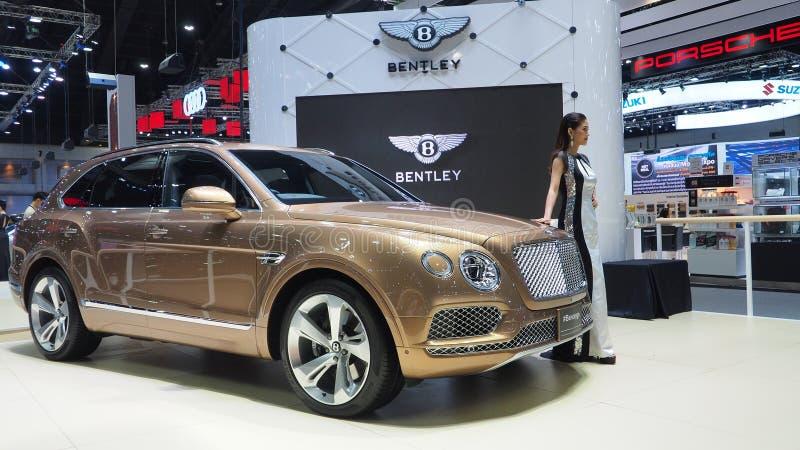 Bentley Bentayga en la 34ta expo 2017 del motor fotos de archivo
