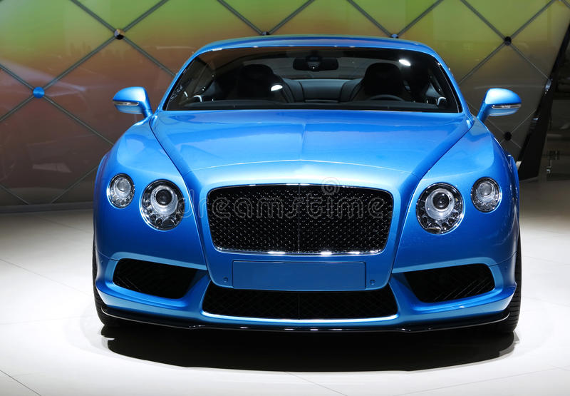 Bentley Car. Show in Auto China 2014 royalty free stock photo
