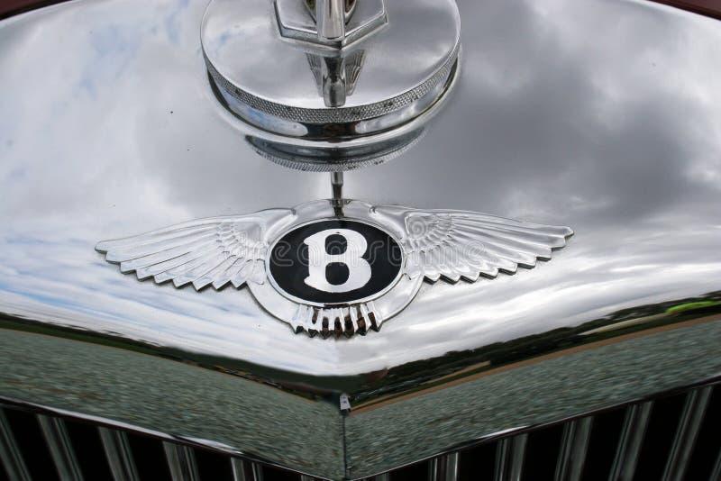 Bentley chromu Cowl Klasyczna odznaka zdjęcie stock