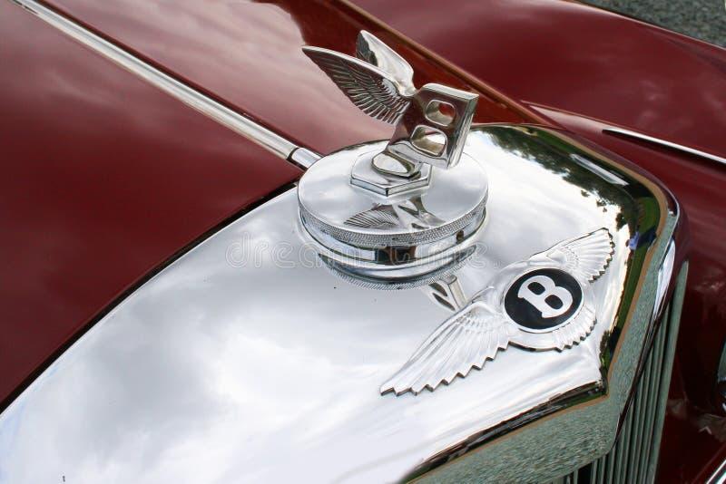 Bentley chromu Cowl Klasyczna odznaka fotografia royalty free