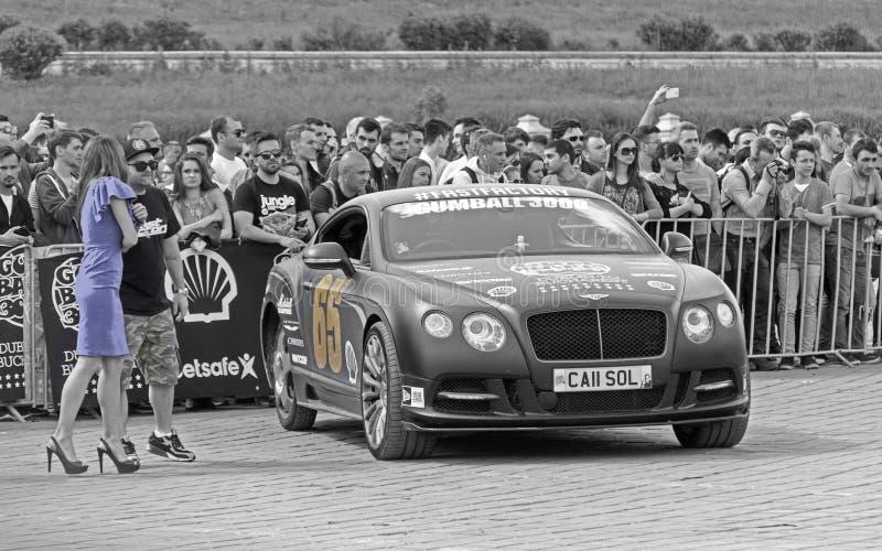Bentley Continental GT - Gumball 3000 - 2016 édition - Dublin vers Bucarest images libres de droits