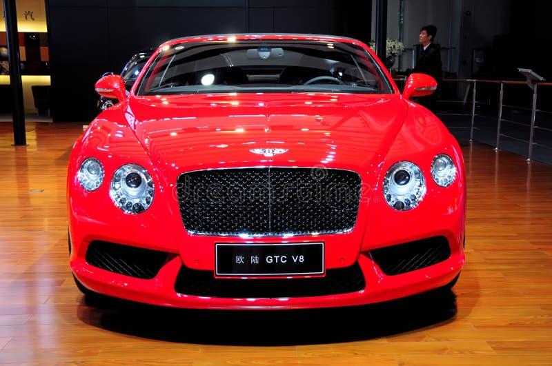 Bentley Continental GTC V8 Convertible sports car royalty free stock images