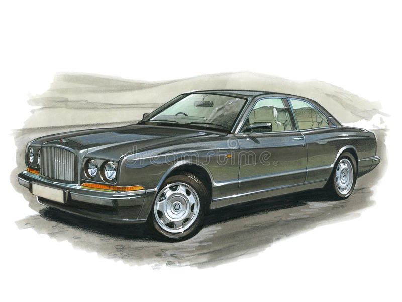 Bentley Continental R. Illustration of a Bentley Continental R vector illustration