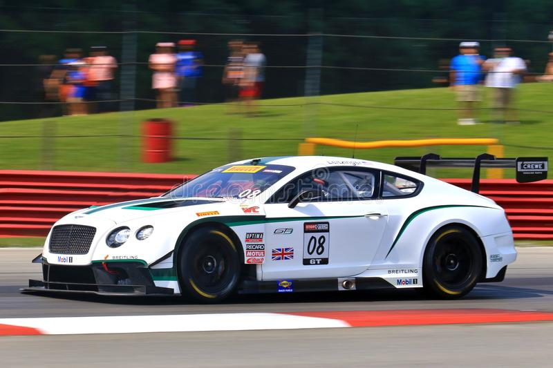 Bentley Continental racing team royalty free stock photography