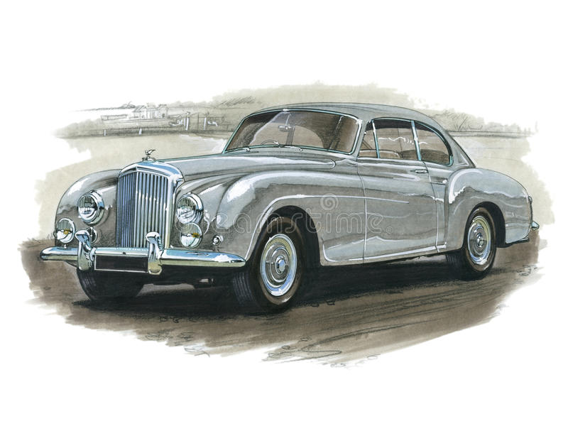Bentley Continental 1950s. Illustration of a 1950s Bentley Continental vector illustration
