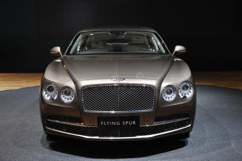 Bentley die aansporingsvoorzijde vliegen stock fotografie