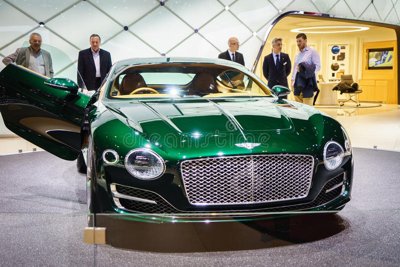 Bentley EXP 10, Motor Show Geneve 2015. Bentley EXP 10 Speed 6 Concept at the 85th International Geneva Motor Show in Palexpo, Switzerland. Photo taken on royalty free stock image