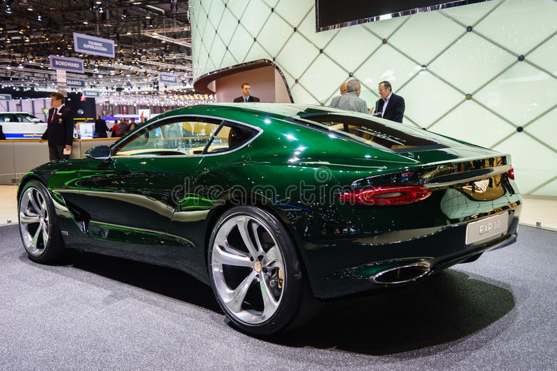 Bentley EXP 10, Motor Show Geneve 2015. Bentley EXP 10 Speed 6 Concept at the 85th International Geneva Motor Show in Palexpo, Switzerland. Photo taken on royalty free stock photography