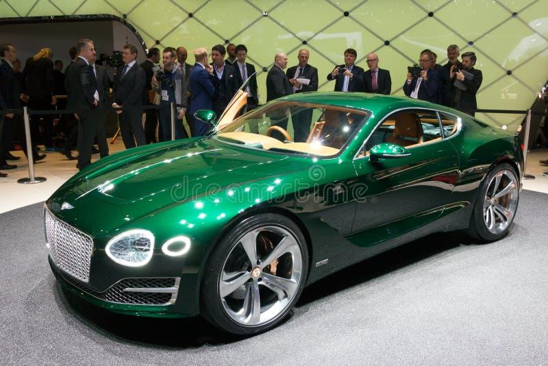 Bentley EXP 10 Speed 6 Concept. GENEVA, SWITZERLAND - MARCH 3, 2015: Bentley EXP 10 Speed 6 unveiled at the 85th International Geneva Motor Show in Palexpo stock image