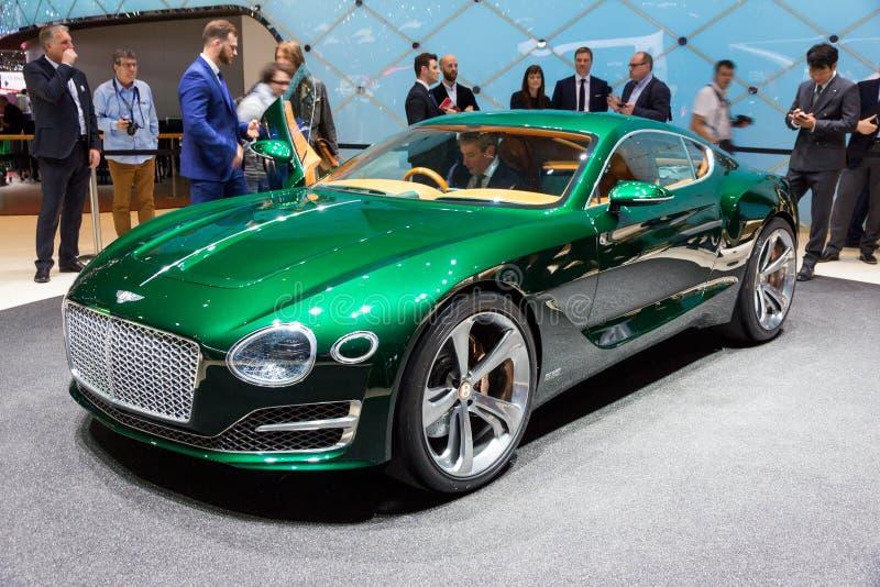 Bentley EXP 10 Speed 6 sports car. GENEVA, SWITZERLAND - MARCH 3, 2015: Bentley EXP 10 Speed 6 sports carunveiled at the 85th International Geneva Motor Show in stock photos