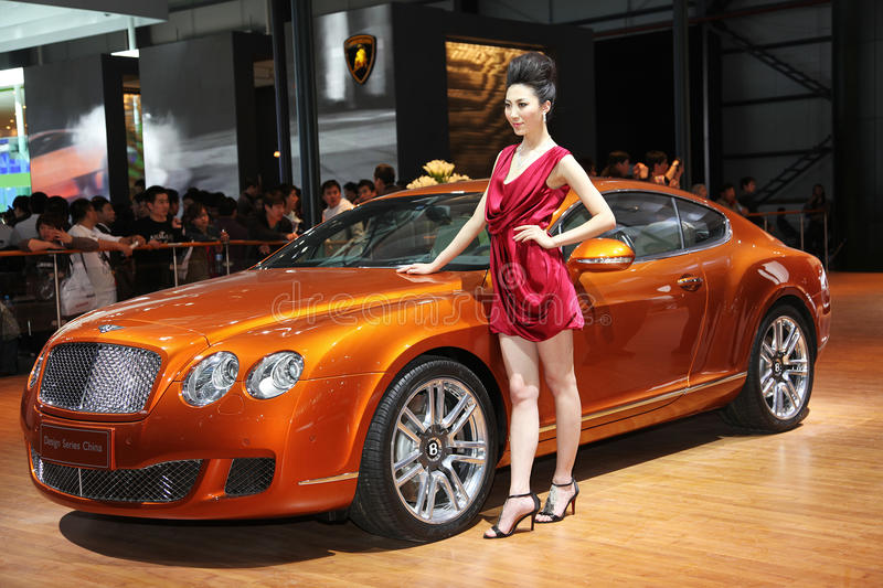 Bentley GT continental conçoivent la série Chine photographie stock libre de droits