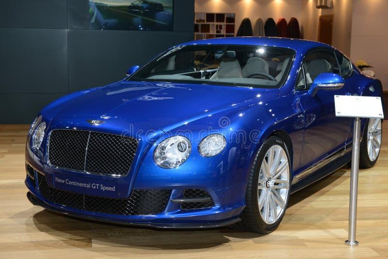 Bentley kontinental GT Speed - världspremiär royaltyfri fotografi