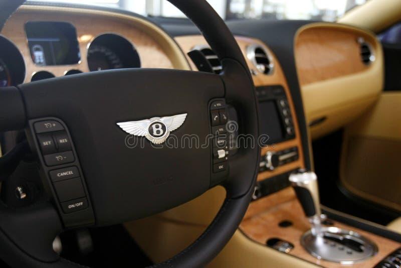 Bentley kontinentales Lenkrad stockbilder