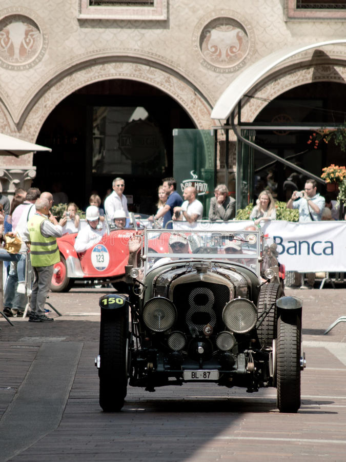 Bentley Le Mans Eight at Mille Miglia 2016 stock image