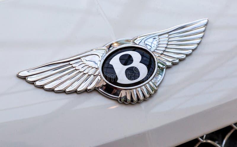 Bentley logo na samochodzie fotografia stock