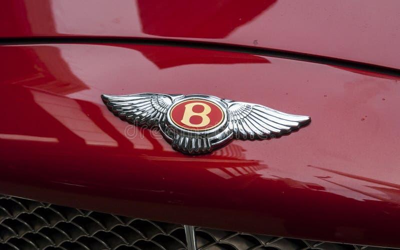 Bentley Motors Badge sul cofano fotografie stock libere da diritti