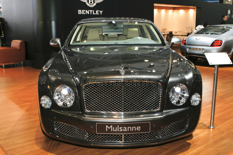 Download Bentley Mulsanne editorial stock photo. Image of black - 15864838