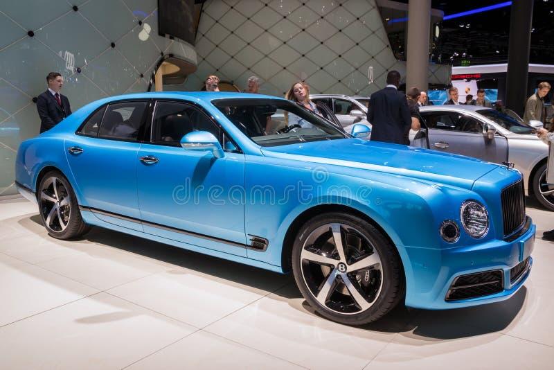 Bentley Mulsanne Design Series lyxbil 2018 arkivbild