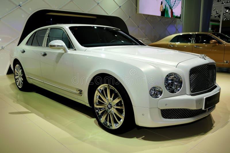 Bentley Mulsanne Przyprawia poborcy wydania supercar fotografia royalty free