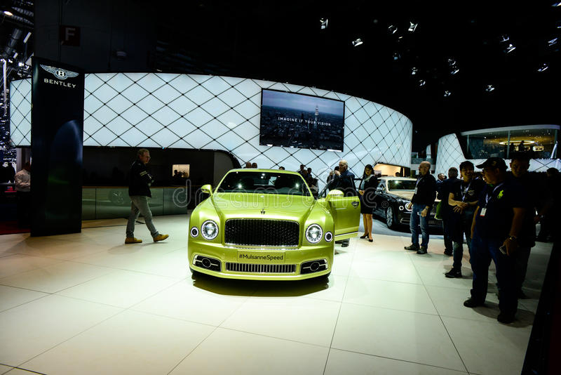 Bentley Mulsanne Speed royaltyfria foton