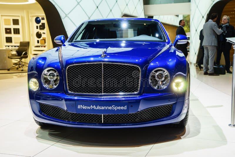 Bentley Mulsanne Speed, salón del automóvil Geneve 2015 fotos de archivo
