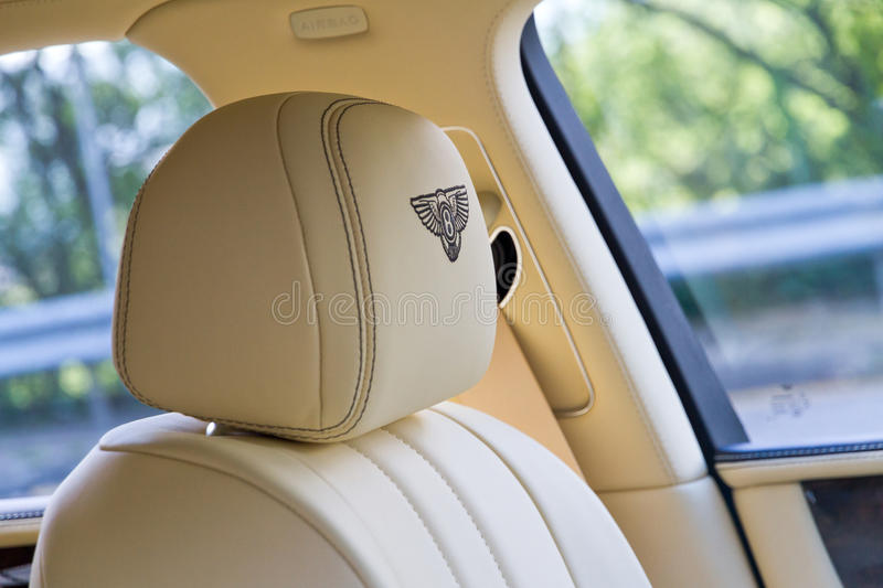 Bentley The New Flying Spur 2013 ModelSeat royalty-vrije stock fotografie