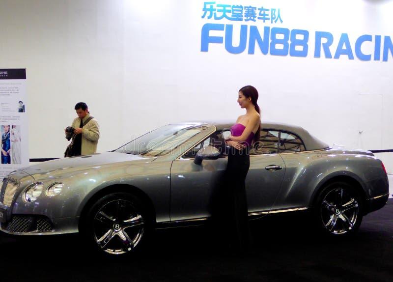 Bentley samochody przy auto przedstawieniem zdjęcie stock