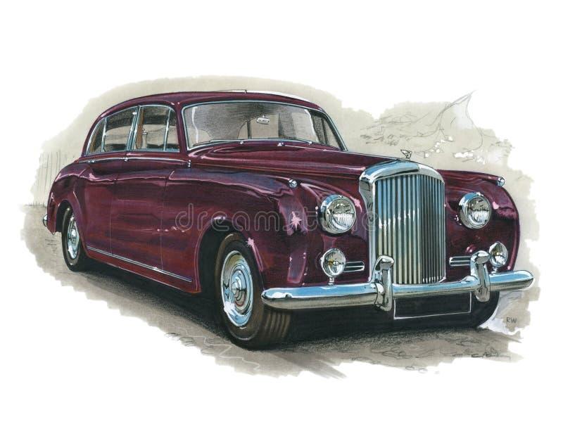 Bentley Silver Cloud II. Illustration of a Bentley Silver Cloud 2 stock illustration