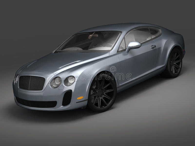 Bentley solides solubles continentaux (2010) illustration stock