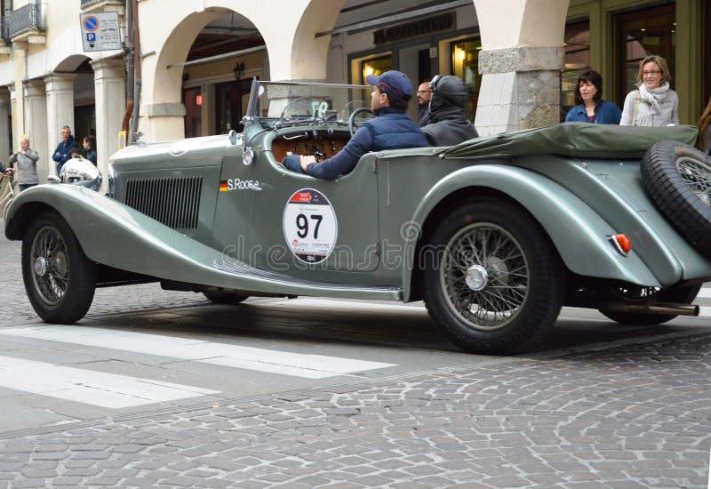 Bentley 3 5 Vanden Plas, 1934 op 1000 Mijlen, kan 16 2014, Este in Italië stock fotografie