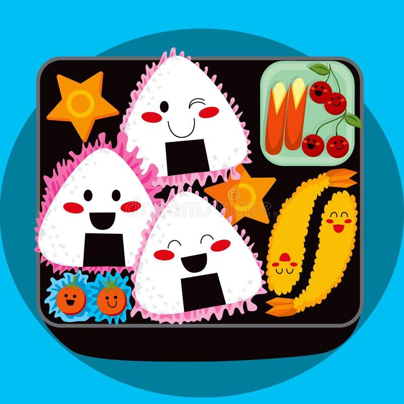 Download Bento字符 向量例证. 插画 包括有 烂醉如泥, 红萝卜, 动画片, 可口, 传统, 蕃茄, 食物, 天麸罗 - 19143859