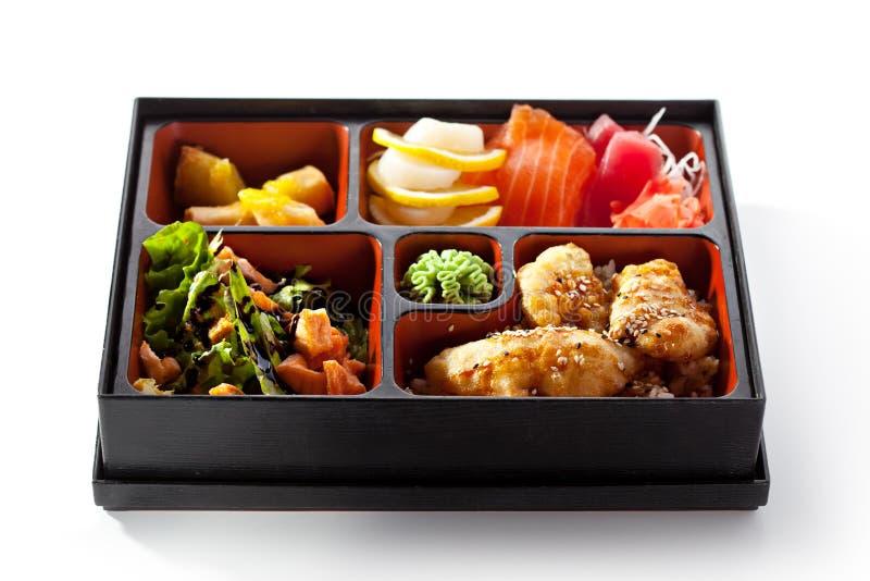 bento日本人午餐 免版税图库摄影
