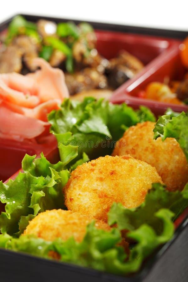 bento烹调日本人午餐 免版税库存照片