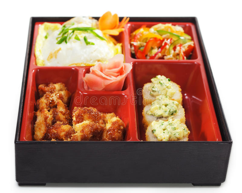 bento烹调日本人午餐 免版税图库摄影