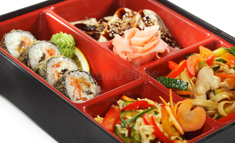 bento烹调日本人午餐 图库摄影