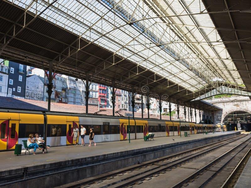 Bento ferroviaire de sao de station de train, Porto, Portugal photo libre de droits