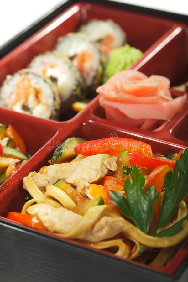 bento kuchni japoński lunch zdjęcia royalty free