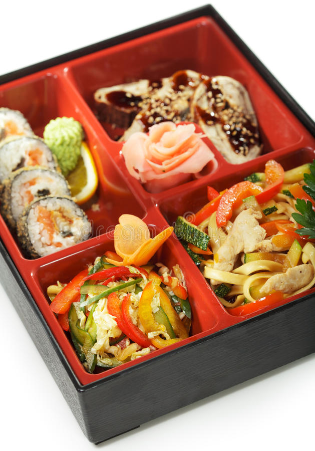 bento kuchni japoński lunch fotografia stock