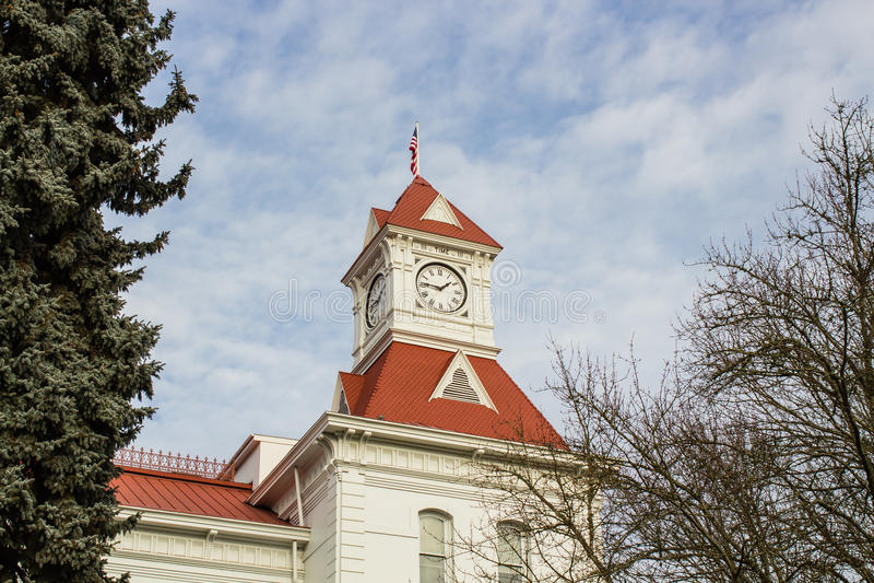 Benton okręgu administracyjnego gmach sądu, Corvallis, Oregon obraz royalty free