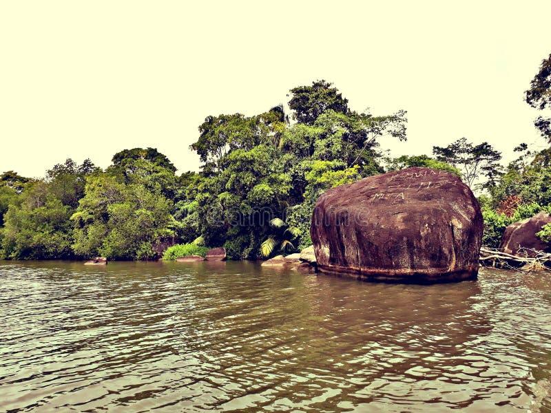 Bentota lake rock stock images