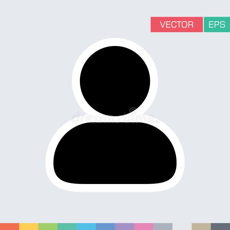Download Benutzer-Ikonen-flache Vektor-Person Profile Avatar-Illustration Vektor Abbildung - Illustration von arbeitgeber, glyph: 96925127