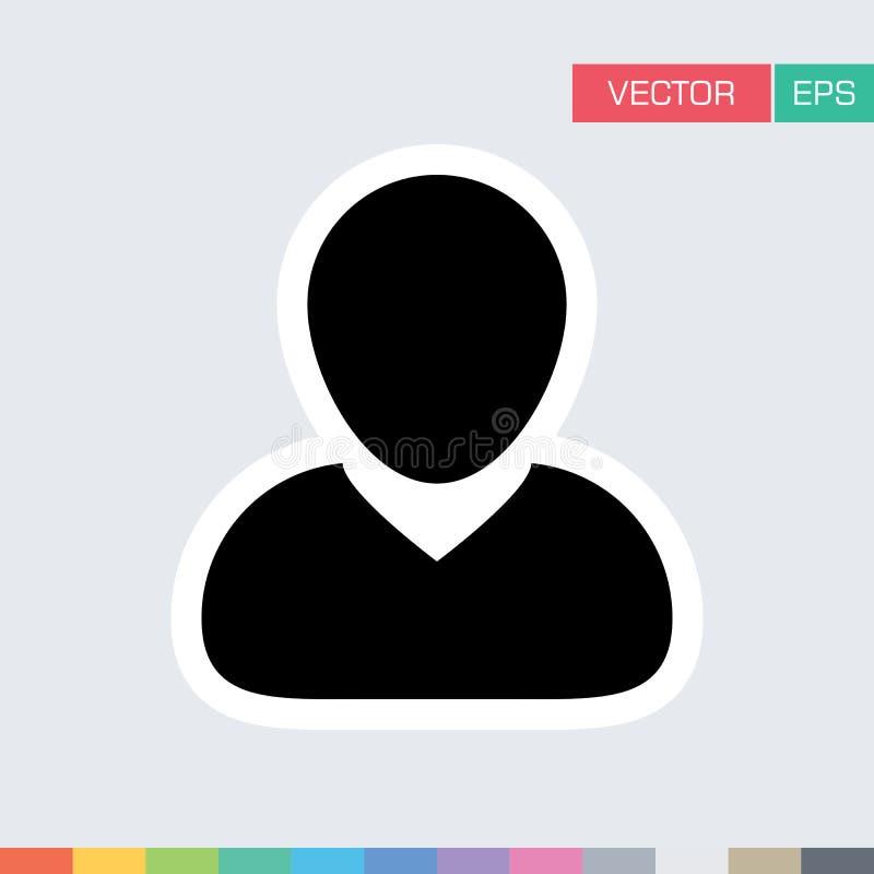 Download Benutzer-Ikonen-flache Vektor-Person Profile Avatar-Illustration Vektor Abbildung - Illustration von graphik, verwalter: 96925311