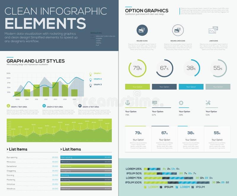 Benutzer inteface Vektorelemente zum infographics und machen Daten sichtbar lizenzfreie abbildung
