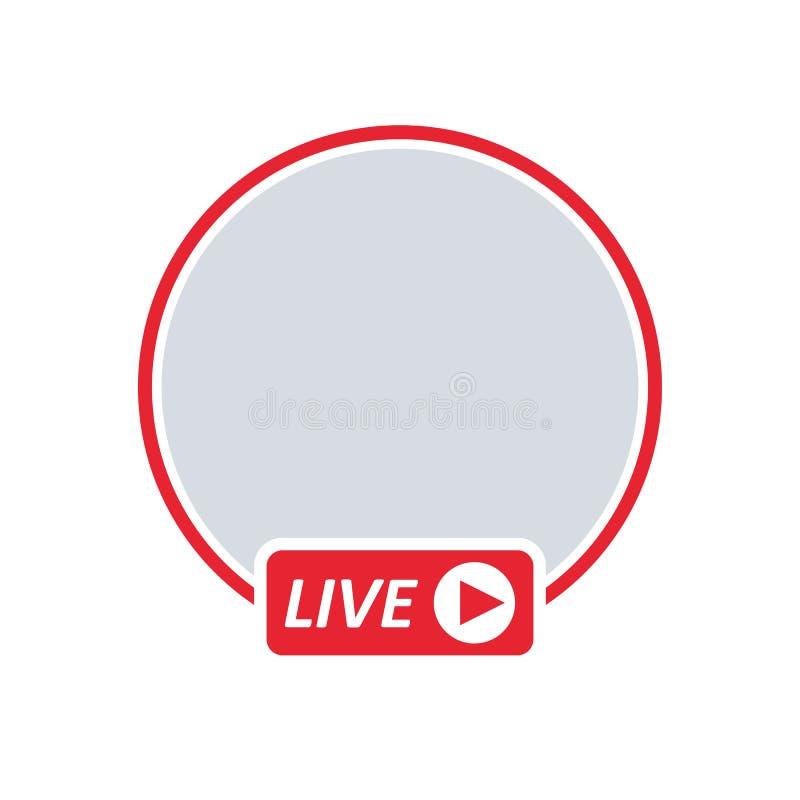 Benutzer-Live - Video-Strömen vektor abbildung