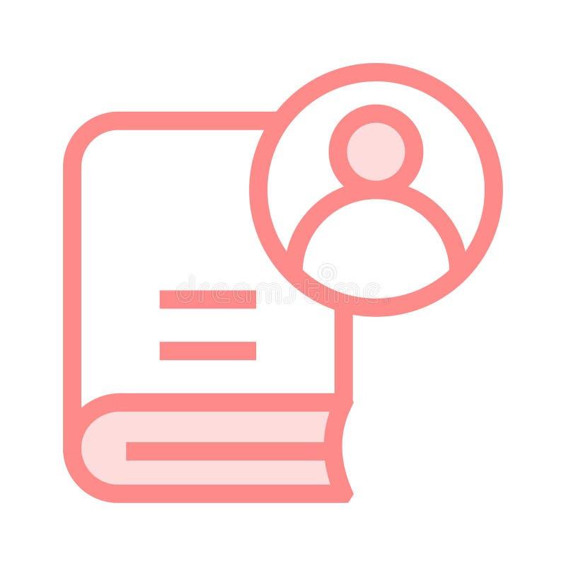 Benutzerbuch-Farblinieikone stock abbildung
